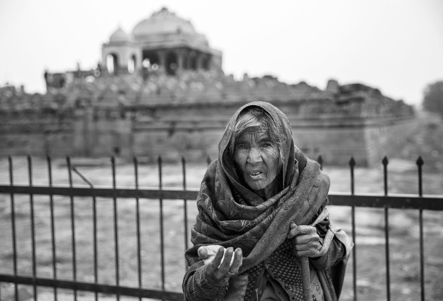 Woman Begging At The Gates Of Dawn