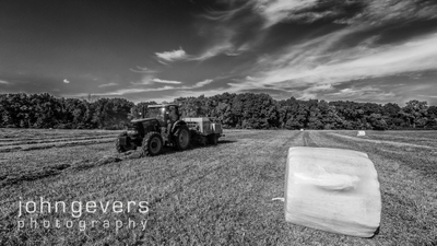 Hay baling on Wood Farms