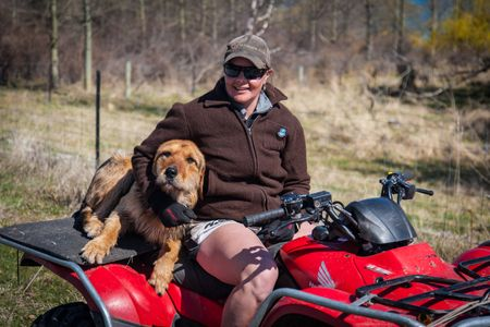 Rancher and cattle dog  •  New Zealand