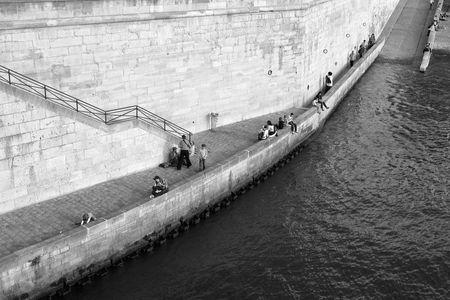 La pêche au bord de La Seine