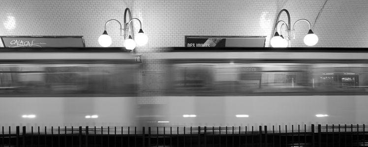 Le métro en motion