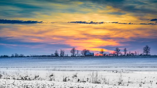 Winter Sunset 2 • Rural Indiana