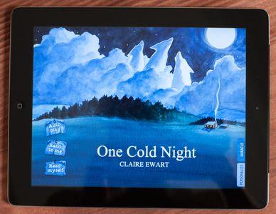 Claire Ewart children's book on iPad