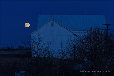 Supermoon Over Barn • Fort Wayne, Indiana