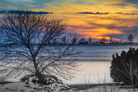 February Sunset in the Heartland • Indiana