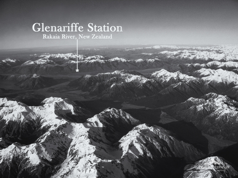 Glenariffe Station, Aerial View Over the Southern Alps