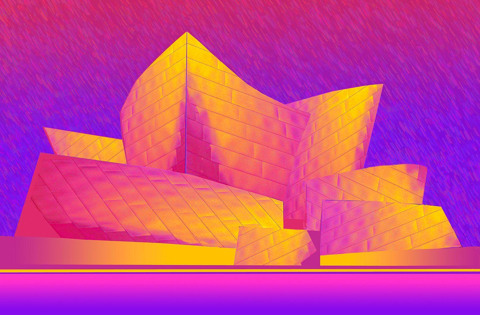 Disney Hall in Technicolor