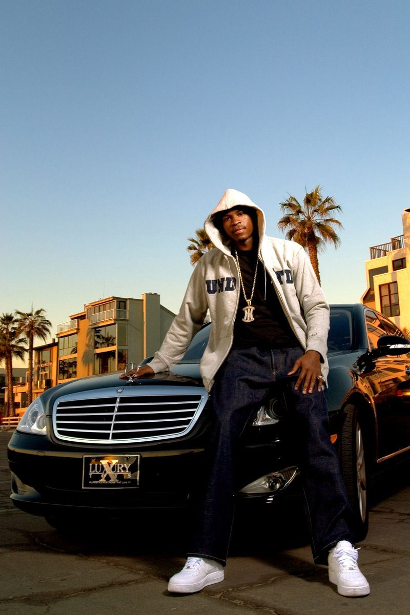 Fashion shoot with Smush Parker of the LA Lakers, shot for Dime magazine