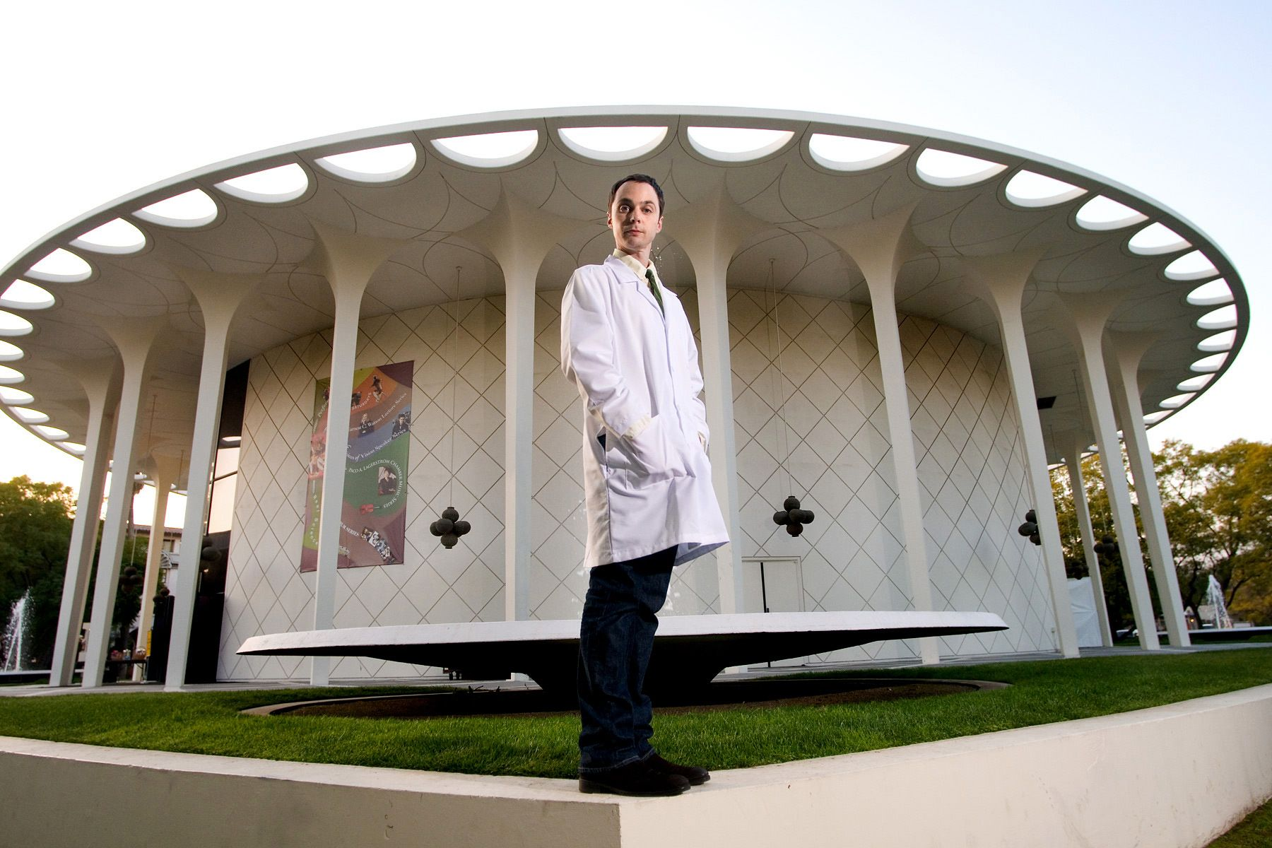 Jim Parsons at Cal Tech shot for TV Guide Magazine