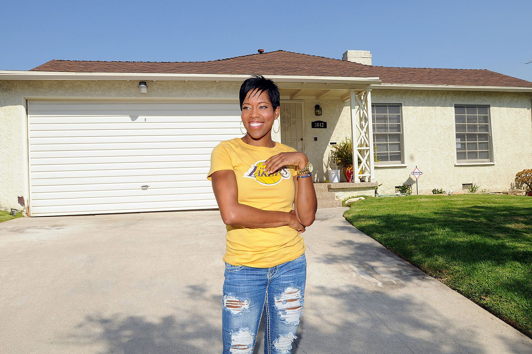 Regina King returns to her childhood turf in South Los Angeles after starring in the TV Show Southland.
