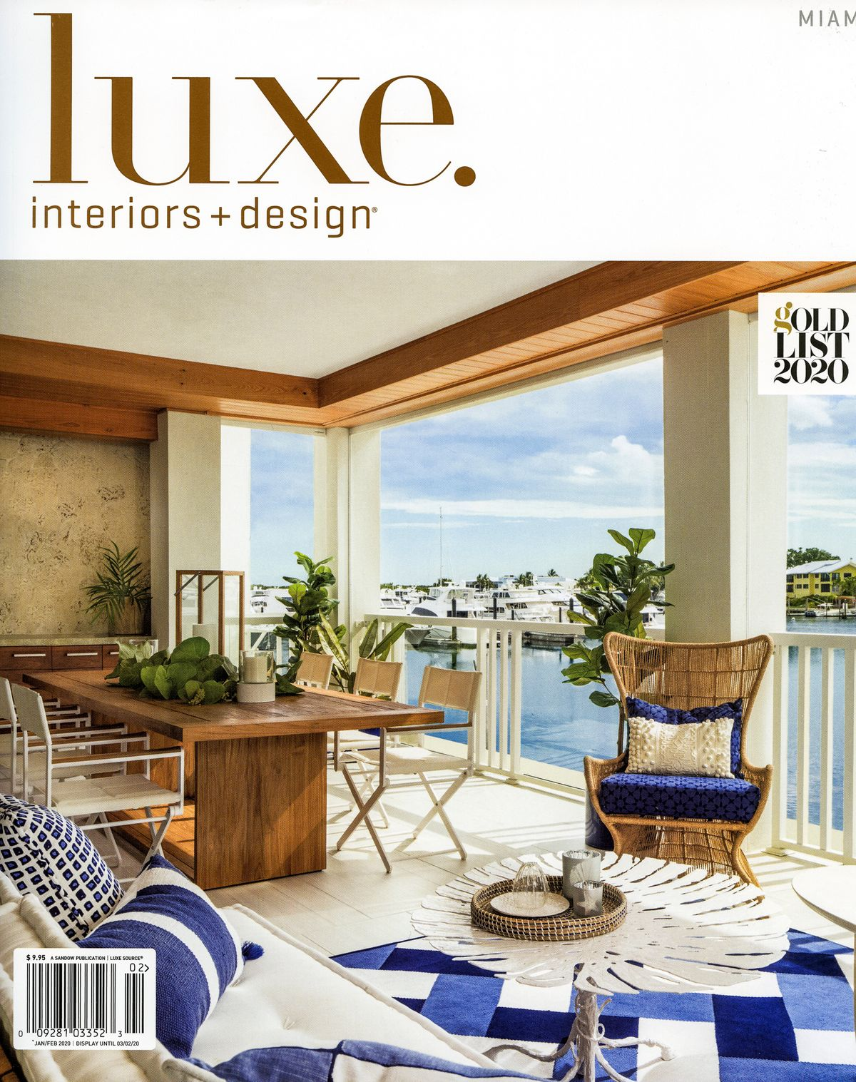 Cover Photo of Luxe Magazine, Jan 2020