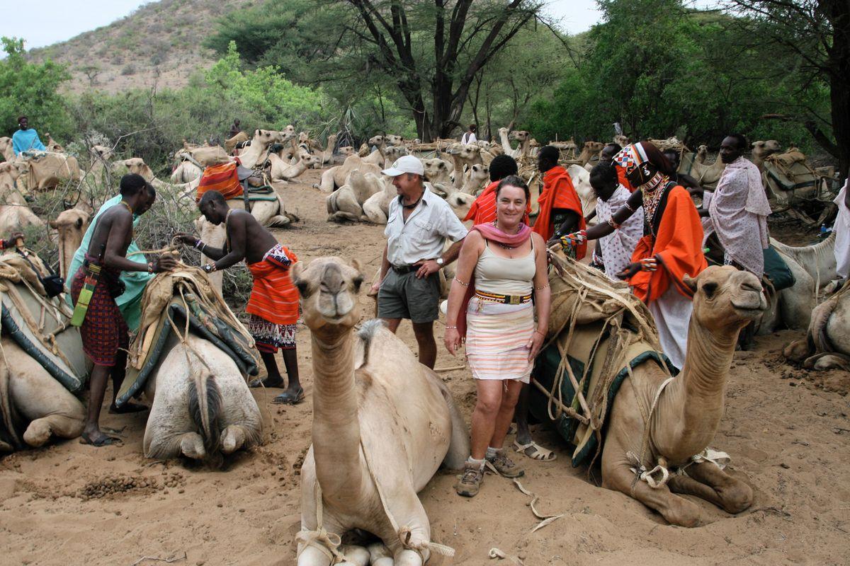 Kenyan's Helen Douglas Dufresne and Pete Ilsley