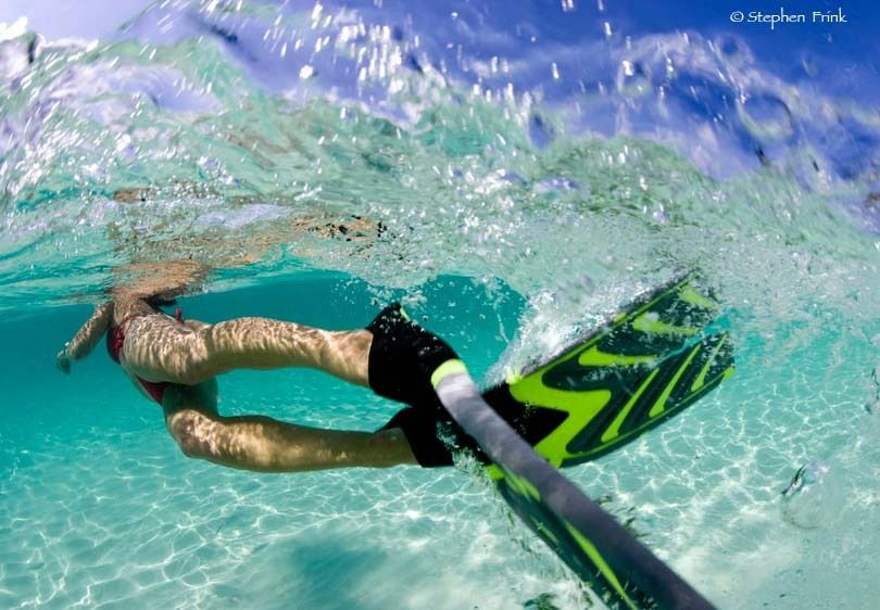 Leg Movements while Wearing Snorkeling Fins