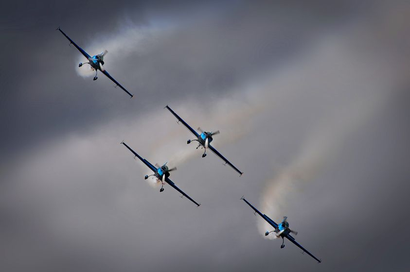 'The Blades' aerobatic display team.