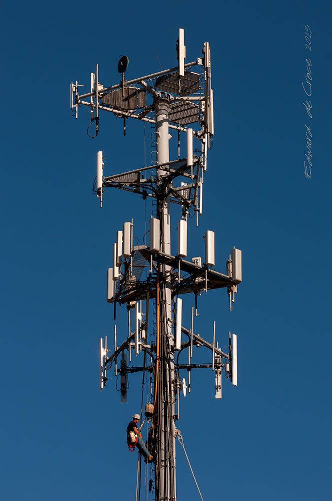 Cellphone Tower Worker  Corporate Photography