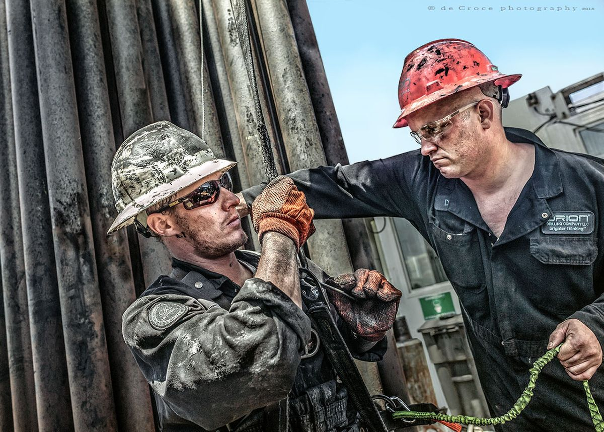 Roughnecks Work Oil
