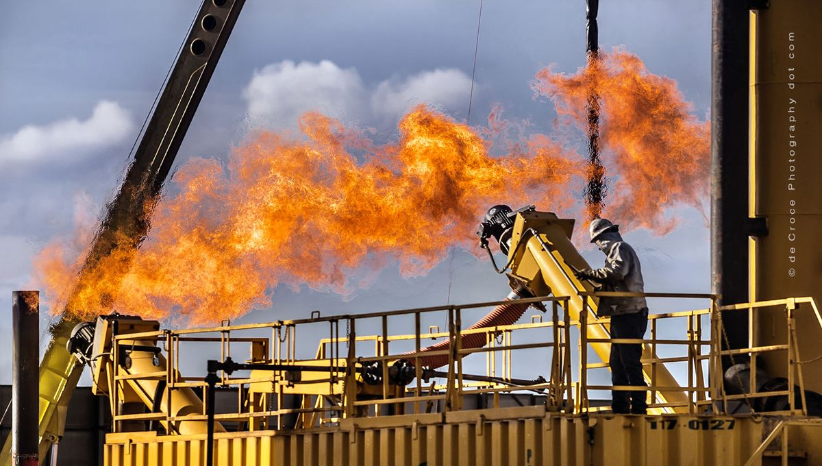 Flare Stack - Gas Photography Energy