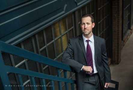 "Denver Business Photographers - ""Attorney On Steps"""