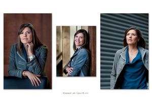 Executive businesswoman portrait trio