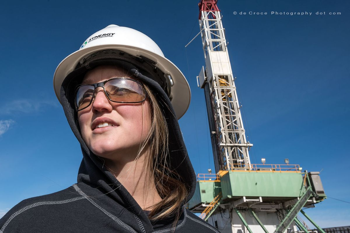 Female Petroleum Engineer
