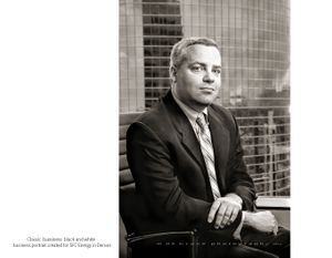 Classic B&W Business Portrait