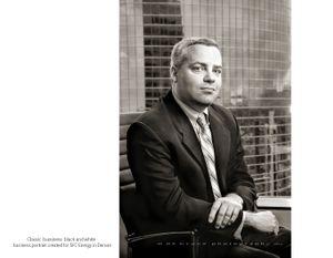Classic B&W Business Portrait