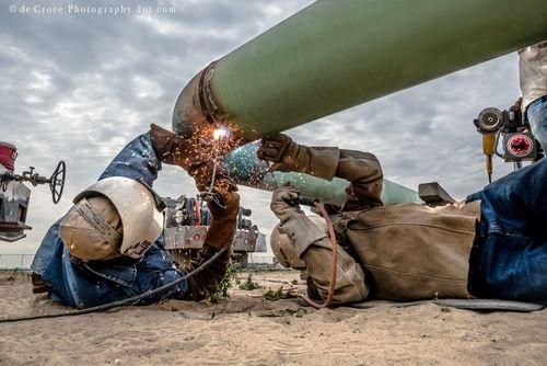 Industrial Photography Welders Midstream
