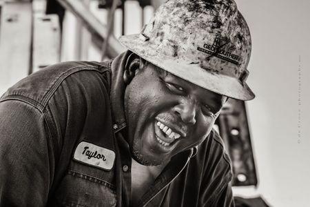 Laughing Roughneck Portrait