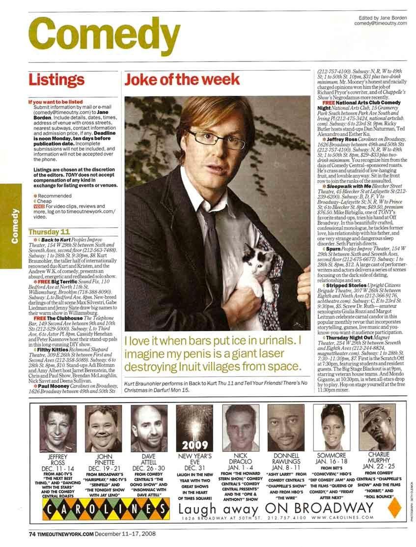 TimeOut NY - December 11-17, 2008