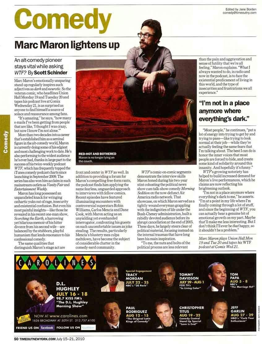 TimeOut NY - July 15-21, 2010