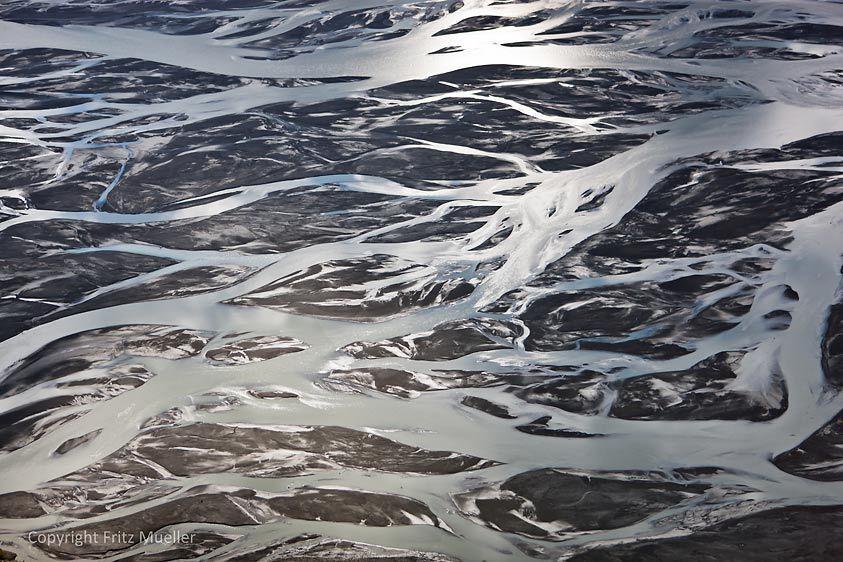 Braided channels of the Slims River, Kluane National Park, Yukon
