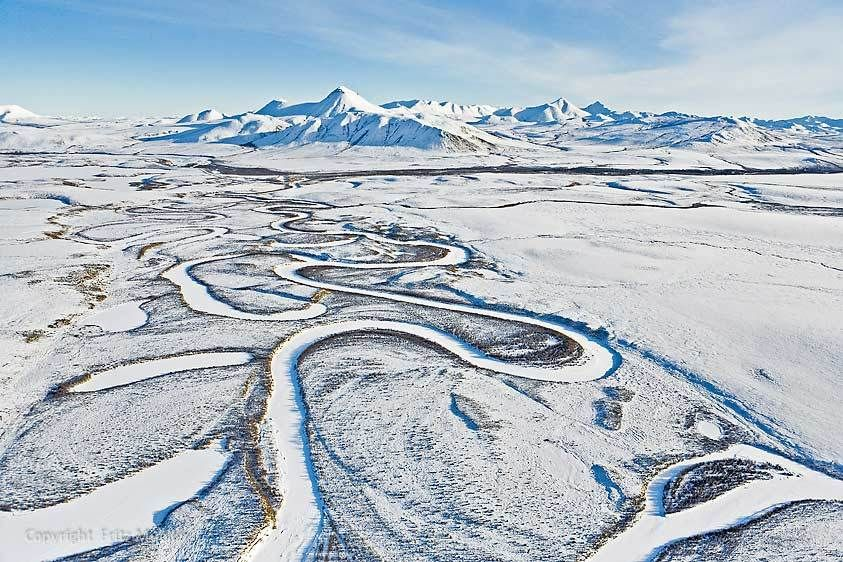 Blackstone River meandering through Tombstone Territorial Park, Yukon
