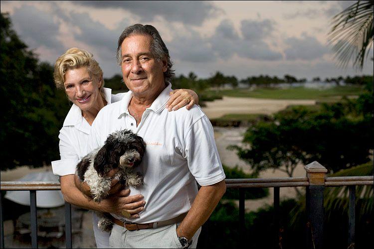 Roberta Finestone and Robert Diamond at home in Punta Cana, Dominican Republic.