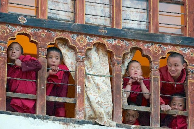 Peeping monks
