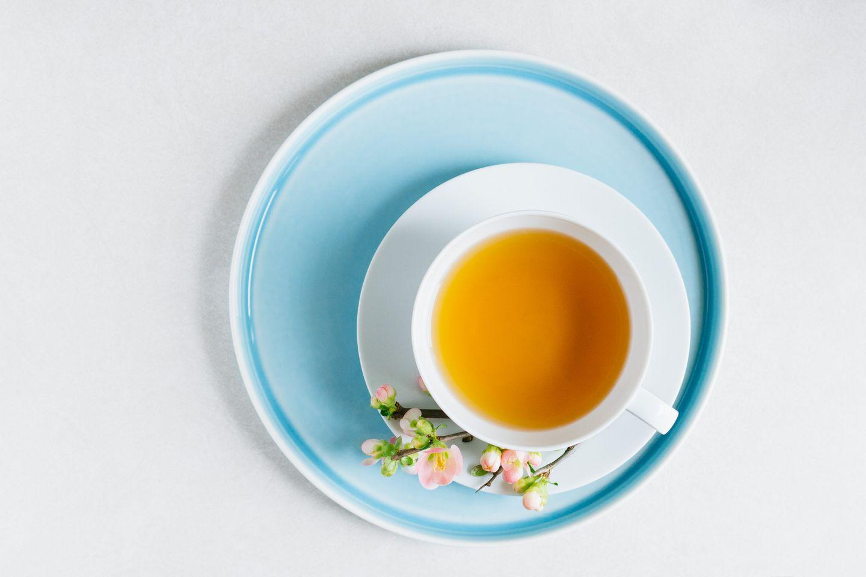 Green tea still life