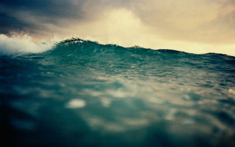 Moody ocean wave breaking