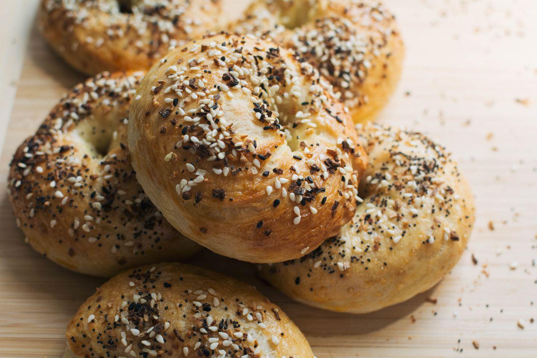 Handmade everything bagels