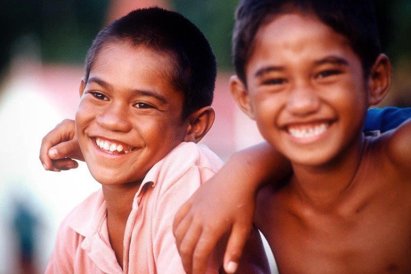Two Boys, Nuku Hiva, French Polynesia