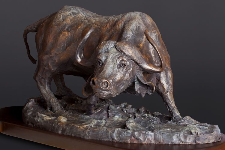 "Black Death, bronze, 36"" wide.  Commission."