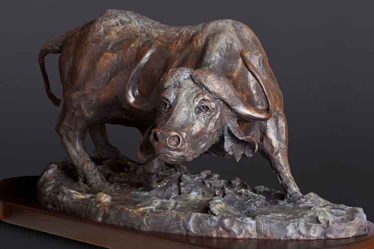 "Black Death, bronze, 36"" wide.  Commission."