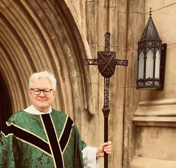 Processional Cross with Dean of the Cathedral, Michael Wright