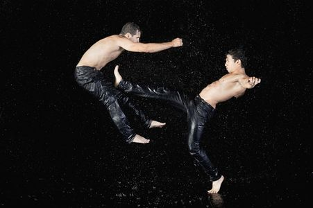 Vinny Silva and Raihan Baqui In Water by Cassandra