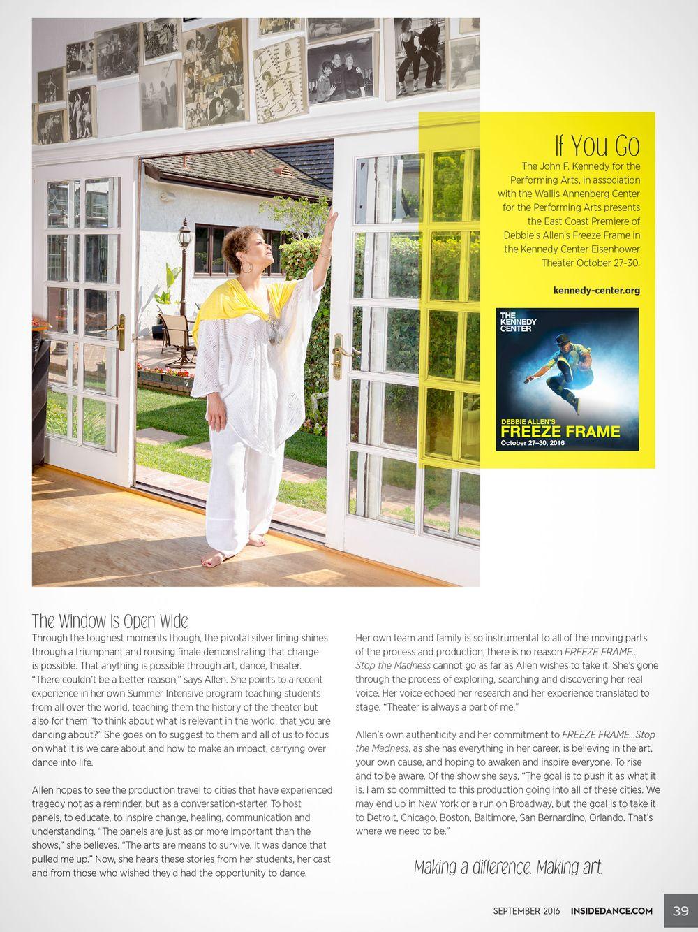 Debbie Allen photographed for Inside Dance Magazine