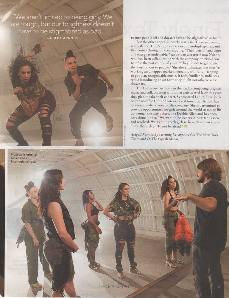 Syncopated Ladies for Dance Magazine