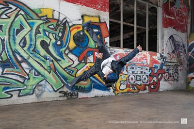 B-Boy Bebo  by Cassandra Plavoukos