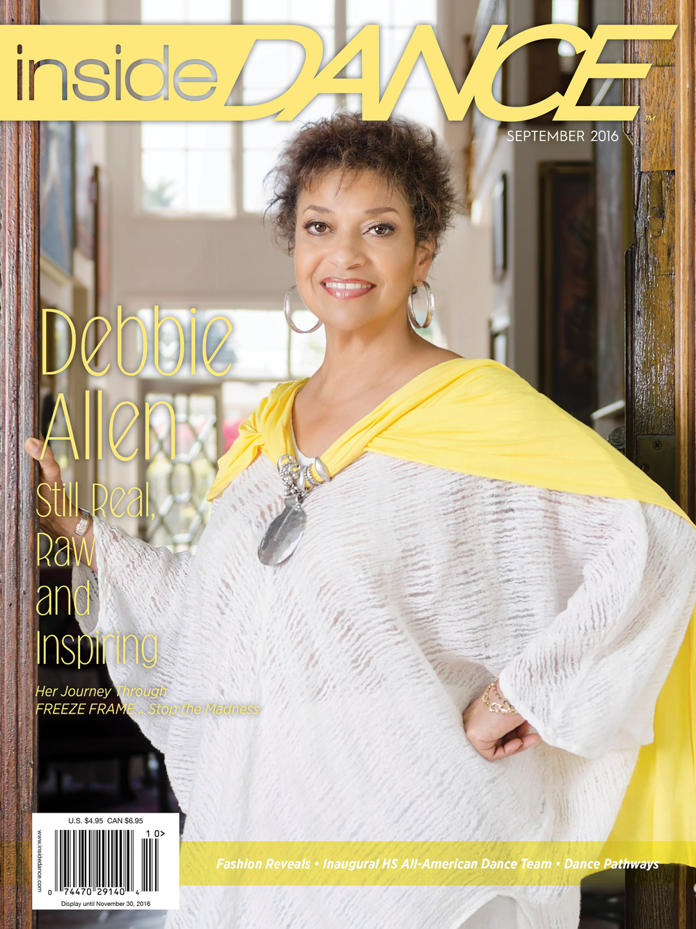 Debbie Allen photographed for Inside Dance Magazine
