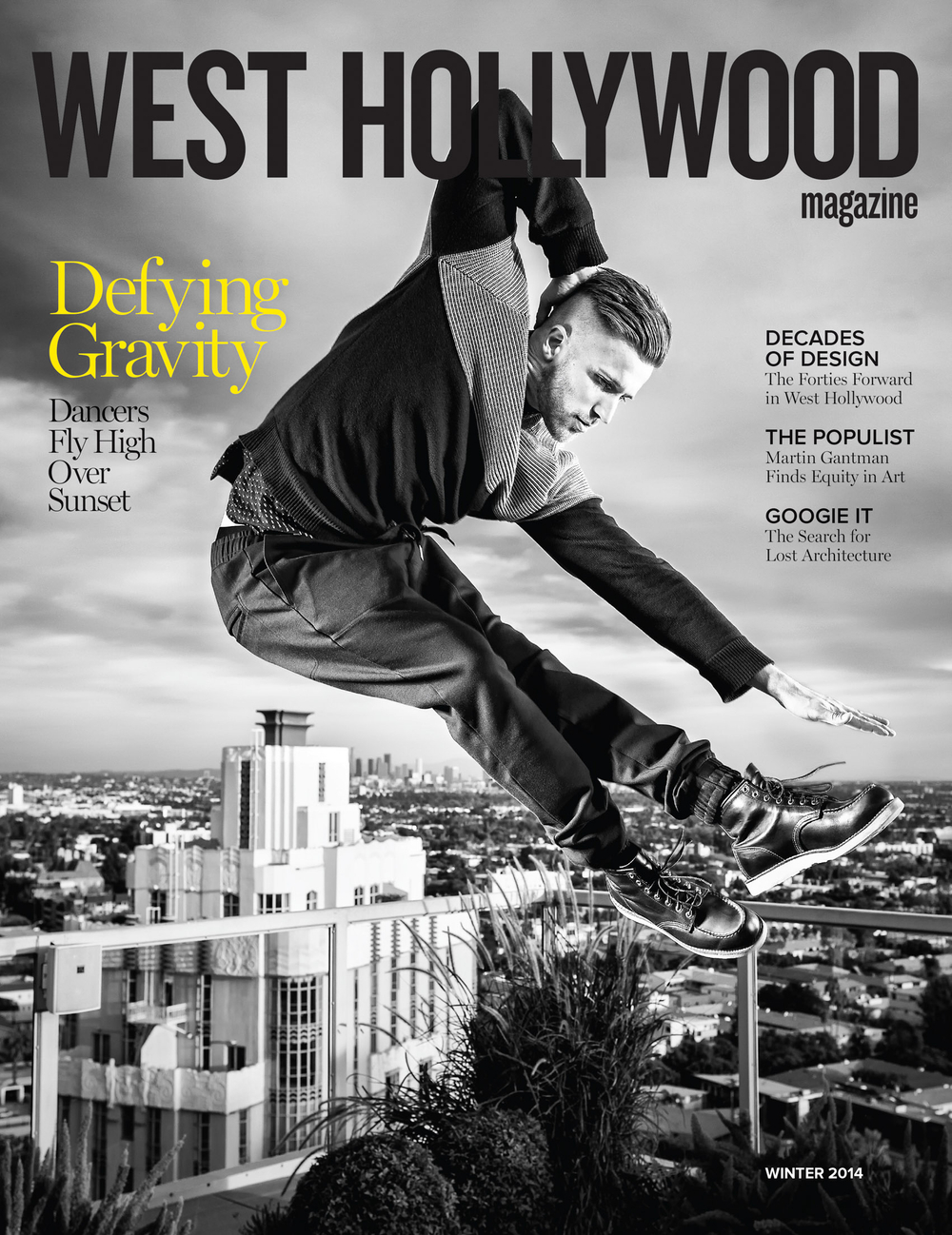 Professional dancer Taylor James photographed for West Hollywood Magazine
