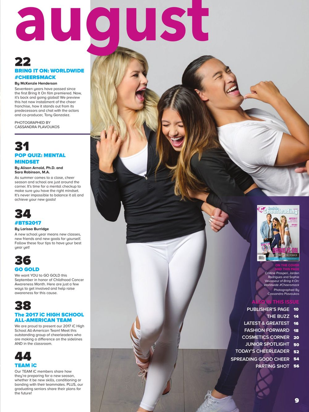 The Cast of Bring It On 6 For Inside Cheerleading Magazine