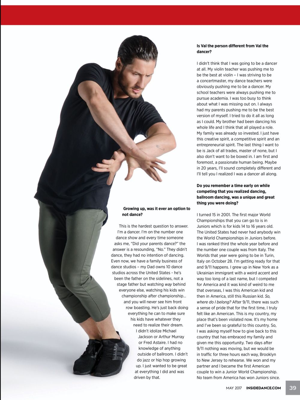 Valentin Chmerkovskiy for Inside Dance Magazine