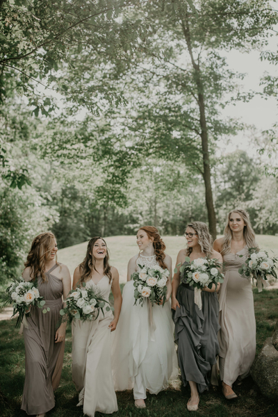 Meadow Style Bridesmaid Bouquets